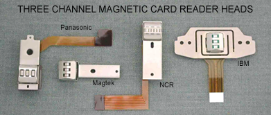 3-Channel Magnetic Card Reader Heads