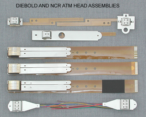 Diebold and NCR ATM Head Assemblies